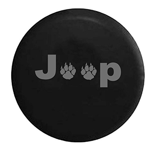 Stealth - Jeep Wild Animal Paw Prints Spare Tire Cover OEM Vinyl Black 32-33 in (Jeep Paw Print Tire Cover compare prices)