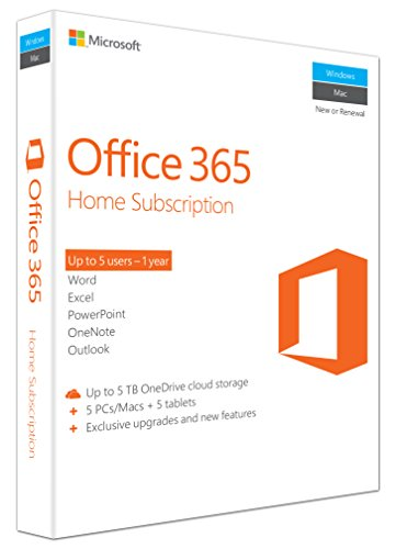 MS Office 365 Home Mac/Win Subscription P2 EuroZone Medialess 1Year English (EN)