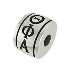Theta Phi Alpha Barrel Sorority Bead Fits Most Pandora Style Bracelets Including Pandora Chamilia Biagi Zable Troll and More. High Quality Bead in Stock for Immediate Shipping