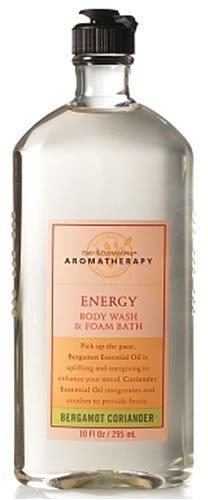 Bath & Body Works Aromatherapy Bergamot Coriander Energy Body Wash and Foam Bath 10 fl oz (295 ml)