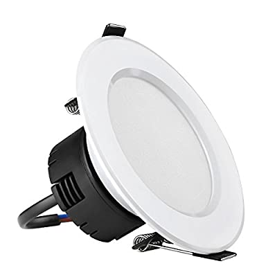 LE 8W 3.5-Inch LED Recessed Ceiling Lights, 75W Halogen Bulb Equivalent, Warm White, Recessed Light, Downlight