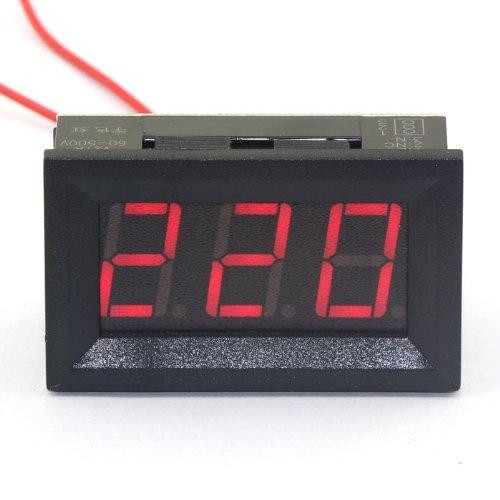 Drok Mini Two Wire Digital Voltmeter Ac 75V To 300V 110V/220V Red Led Tester ...