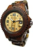Tense Inlaid Multicolored Sports Natural Wood Watch Roman Numerals G4100I RNLF