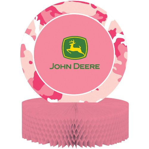 John Deere Pink Honeycomb Centerpiece - 1