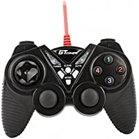 Dual Shock Wired USB Gamepad Controller For PC With Gripped Joysticks Ergonomic Design Vibration Force Feedback... - B00S879CAG