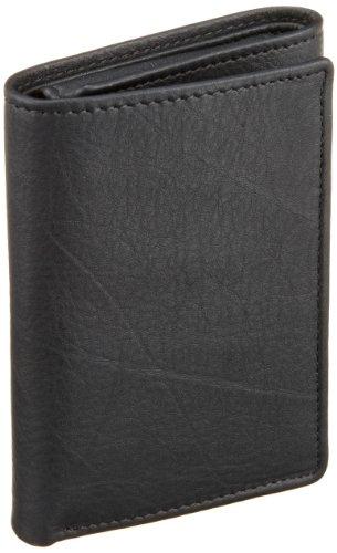 Perry Ellis Men's Park Avenue Trifold Wallet, Black, One Size