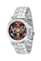 Christian Audigier Unisex ETE-107 Eternity Skulls and Roses Stainless Steel Watch