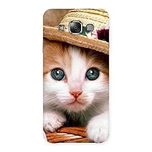 Gorgeous Premium Cute Hats Cat Multicolor Back Case Cover for Galaxy E7