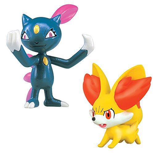 Pokémon 2 Pack Small Figures- Fennekin Vs Sneasel
