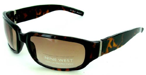 NWT Women's Nine West Tortoise Frame Logo UV Sunglasses