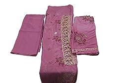 Alankar Textiles Panjabi Suit Piece Pink Color Cotton Dress Material