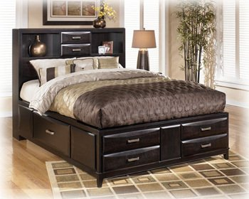 Queen Bed in Black Finish