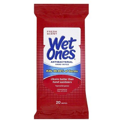 Wet Ones Antibacterial 20 Ct Hand Wipes Travel Pack (Pack Of 10) front-756847