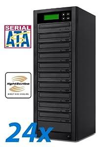 Bestduplicator LS Series - 9 Target 24X Sata LightScribe DVD CD Duplicator (Standalone Audio Video Copy Tower, Duplication Device)