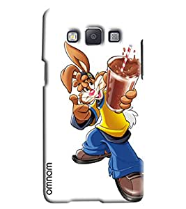 Omnam Mouse Drinking Choclate Shakes Printed Designer Back Cover Case For Samsung Galaxy E7
