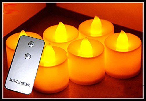 Hossen® 1Pcs Glow Candles,Wedding Decoration,Led Candles,Remote Control Candles,(Yellow Light),Remote Controller Not Included