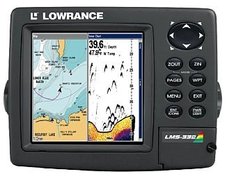 Lowrance Lms-332c Sonar Gps Chartplotter Combo Head Only No Accessories by Lowrance
