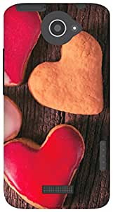 The Racoon Grip Valentines Cookies hard plastic printed back case / cover for HTC One X