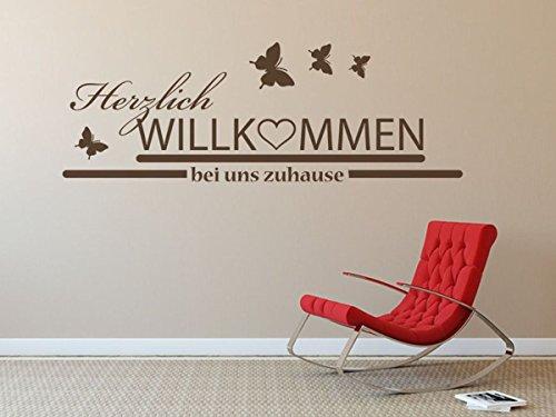 wandtattoo herzlich willkommen bei uns zuhause nr 3. Black Bedroom Furniture Sets. Home Design Ideas