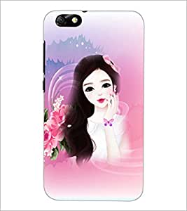 PrintDhaba Cute Girl D-4175 Back Case Cover for HUAWEI HONOR 4X (Multi-Coloured)