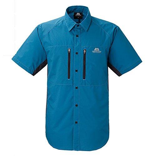 マウンテン・イクィップメント マウンテンエキップメント MOUNTAIN EQUIPMENT Equilibrium Shirt 421816 I10 Ink Blue ショートスリーブシャツ ハイキング ロングトレイル    ブルーグレー M【Me