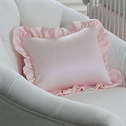 Carousel Designs Ice Pink Crushed Satin Decorative Pillow Rectangular