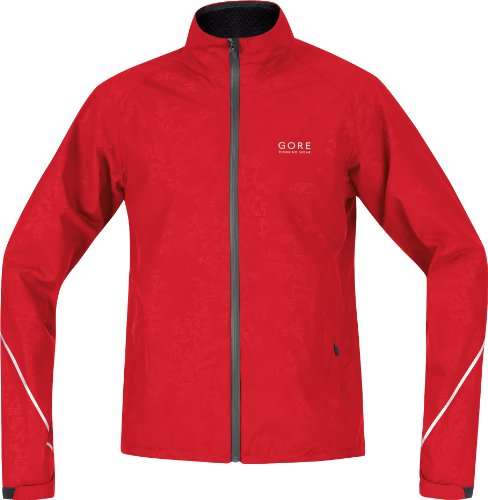Gore Essential Running Wear Men's/Unisex Jacket Gore-Tex Performance Shell - Red, S