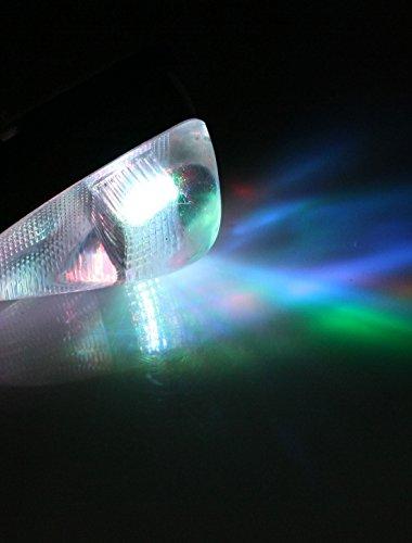 2 Pièces DC 12V Transparent Boitier Voiture Auto Latéral Mark Multicolore Phare LED Décoration