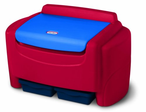 An Image of Little Tikes Primary Colors Toy Chest