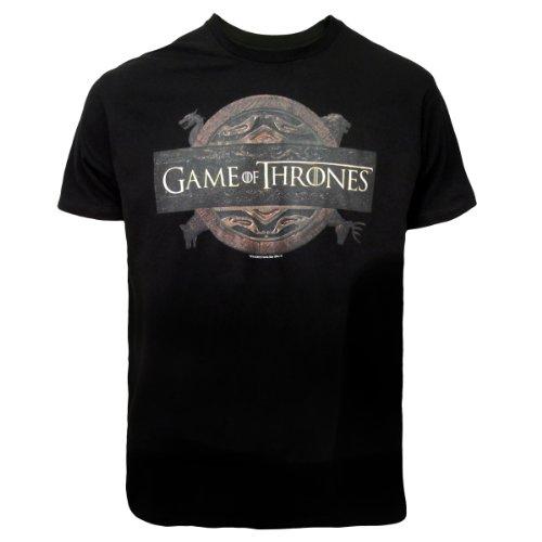 Game Of Thrones Unisex Logo T-Shirt Black Xxl