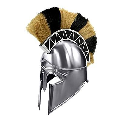 Armor Venue - Greek Corinthian Armor Helmet With Plume - Metallic - One Size