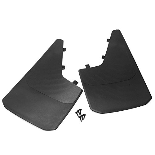 Sizver Universal MudGuards Flaps Splash Guards Fits Most Front or Rear Molded Pair Set 2pc (length 18.1