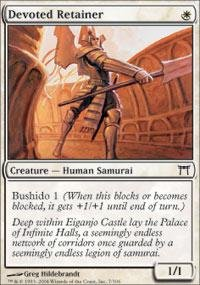 Magic: the Gathering - Devoted Retainer - Champions of Kamigawa (Mtg Champion Of Kamigawa Cards compare prices)