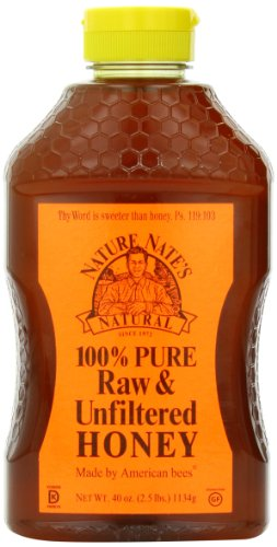 Nature Nate's 100% Pure, Raw and Unfiltered Honey, 40 Ounce (038778830406)