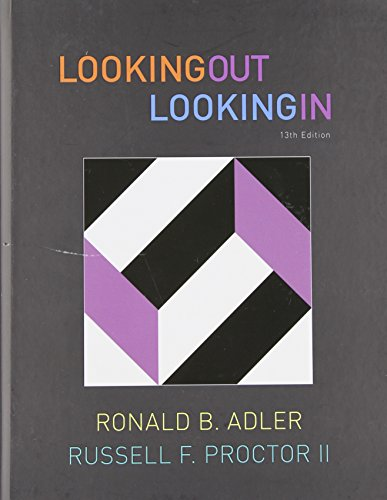 Looking Out, Looking In, 13th Edition (Available Titles...