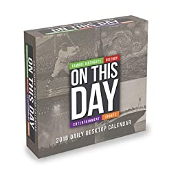 On This Day Desk Calendar by TF Publishing 2016