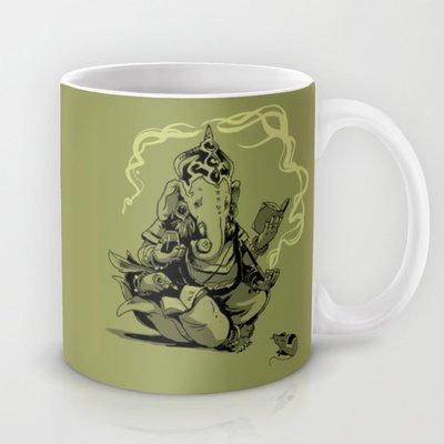 Society6 - Nerdy Ganesha Coffee Mug By Rebekie Bennington