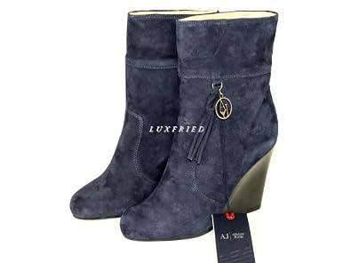 Armani Jeans Damenschuhe Shoe Keilstiefeletten Keilabsatz Plateau U5556 Gr.37