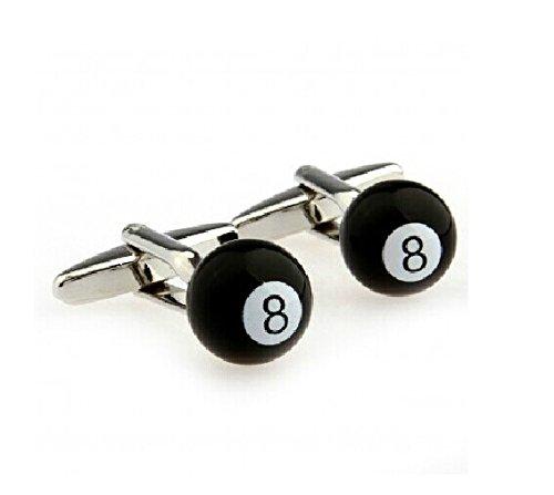 Snooker Billiards Cufflinks Black Number Eight Billiard Ball Cufflinks Cute Cufflinks for Wedding