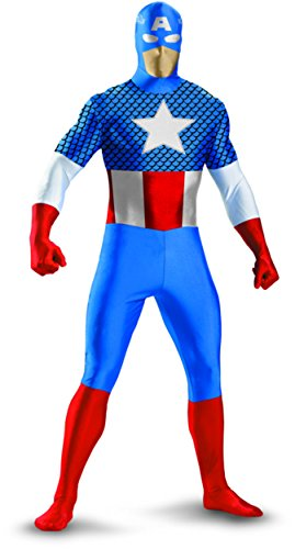 Captain America Deluxe Kids Costume, Large 10-12 (Captain America Morphsuit compare prices)