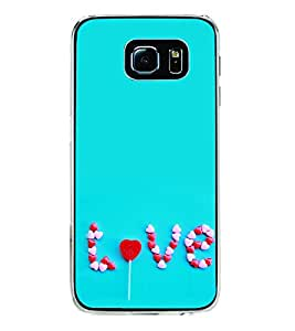 Love 2D Hard Polycarbonate Designer Back Case Cover for Samsung Galaxy S6 Edge :: Samsung Galaxy S6 Edge G925 :: Samsung Galaxy S6 Edge G925I G9250 G925A G925F G925FQ G925K G925L G925S G925T