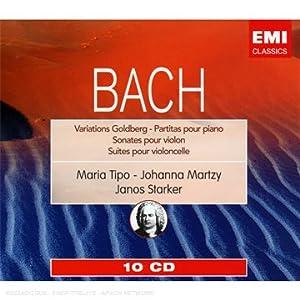 Bach : Variations Goldberg ; Partitas ; Sonates pour violon ; Suites pour violoncelle (Coffret 10 CD)