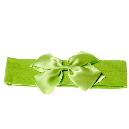Boutique Baby Girl Accessory Grosgrain HEADBAND APPLE GREEN Hair Bow