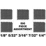 "500 Piece Bicycle Loose Ball Bearing Assortment 1/8"" to 1/4"""