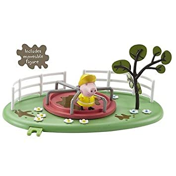 Peppa Pig – Muddy Puddles Playground – Tourniquet – Mini-Parc Boueux et Figurine