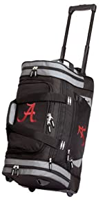 University of Alabama Rolling Duffel Bag Official College Logo Alabama Crimson Tide Duffle Travel / Gym / Sports Overnight Luggage Bags