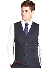Ultimate Performance Slim Fit 5 Button Waistcoat with Wool