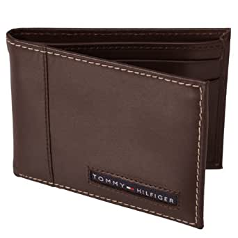 Tommy Hilfiger Cambridge Brown Leather Slim Billfold Wallet