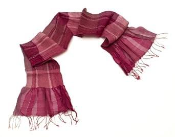 Sevya Shanti Silk and Cotton Scarf Fair Trade Rose