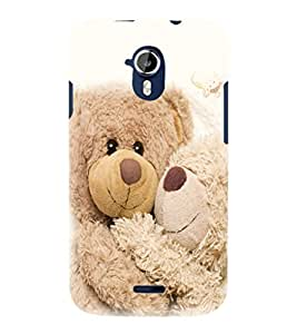 printtech Love Teddy Couple Back Case Cover for Micromax Canvas Magnus A117